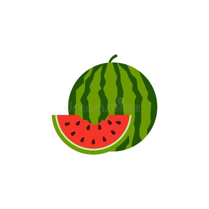 Vattenmelonsymbol som isoleras p? vit bakgrund ocks? vektor f?r coreldrawillustration stock illustrationer