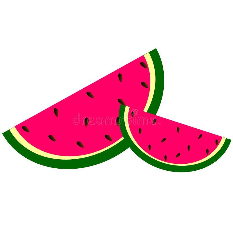 Vattenmelonvektorrosa färger vektor illustrationer