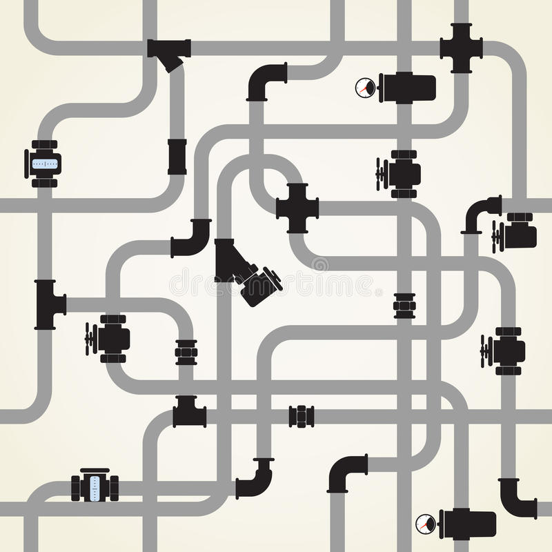 Vattenpipeline stock illustrationer