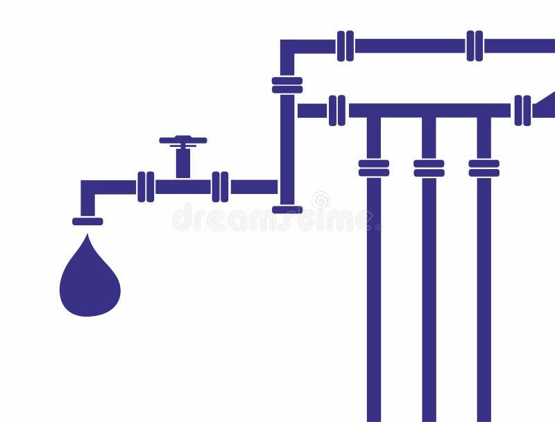 Vattenrörledning stock illustrationer