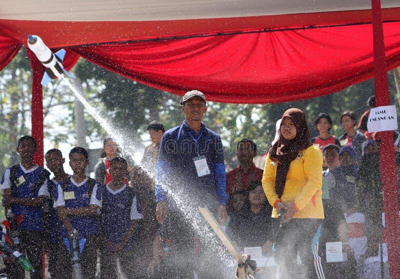 Vattenraket royaltyfria foton
