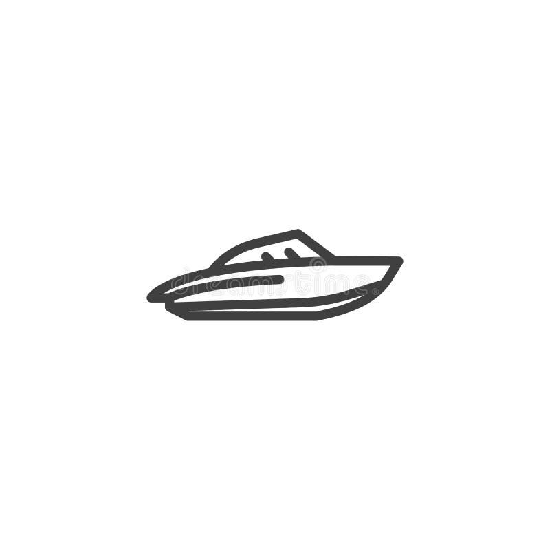 Vattensparkcykellinje symbol royaltyfri illustrationer