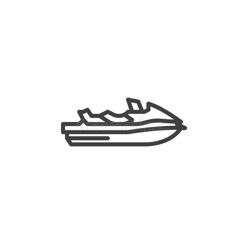 Vattensparkcykellinje symbol stock illustrationer