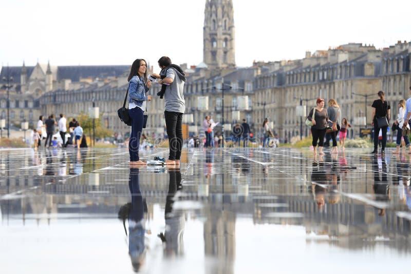 Vattenspegel arkivfoto