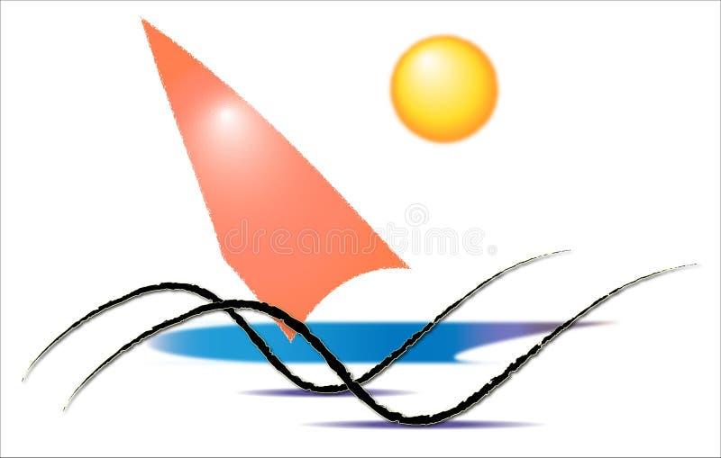 Vattensportar som surfar vektor illustrationer