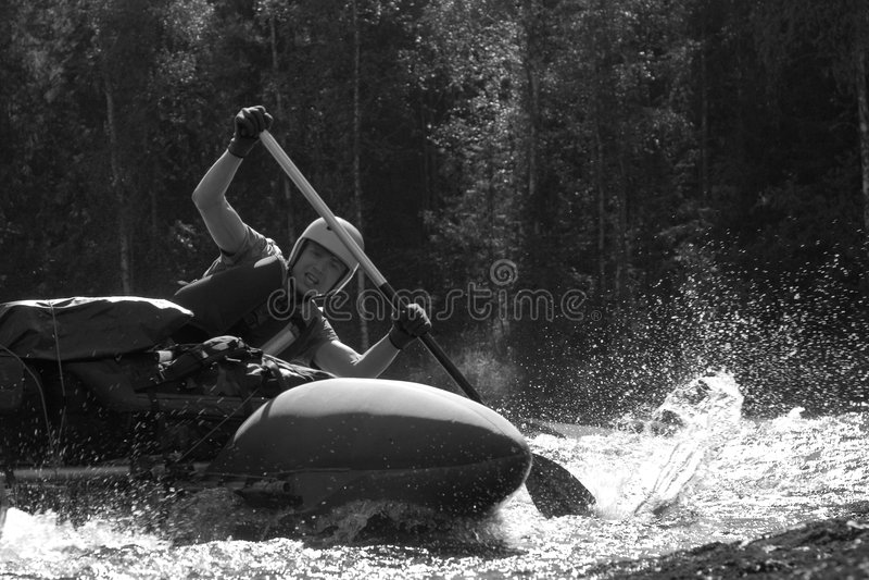 Vattensportsman arkivfoto