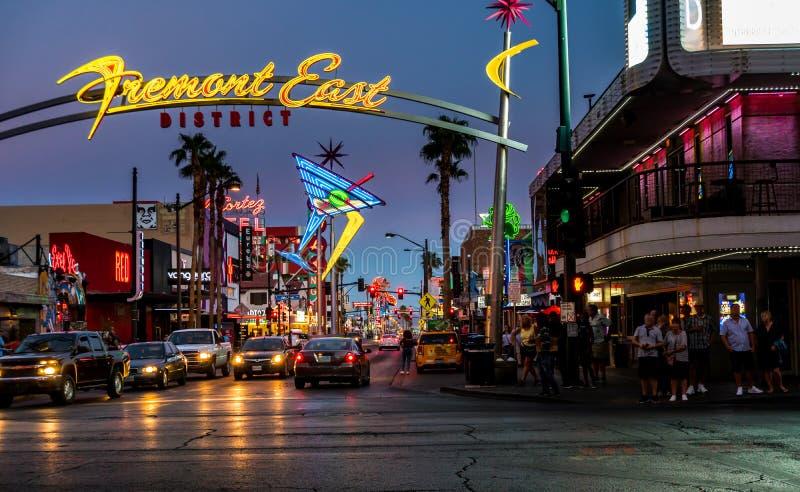 Vattenspringbrunn i Las Vegas fotografering för bildbyråer