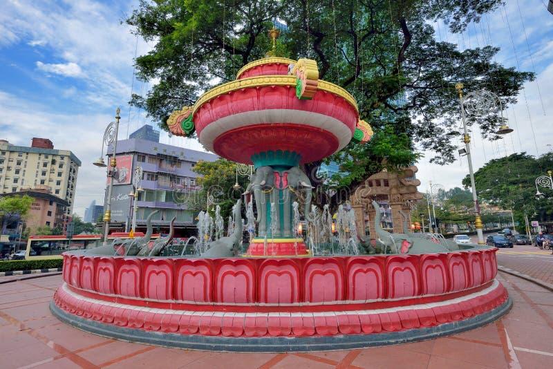 Vattenspringbrunn på lilla Indien, Brickfield royaltyfri fotografi