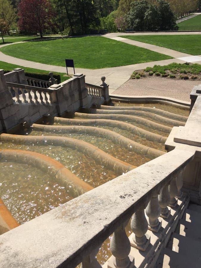 Vattenspringbrunnen i Ault parkerar royaltyfri bild