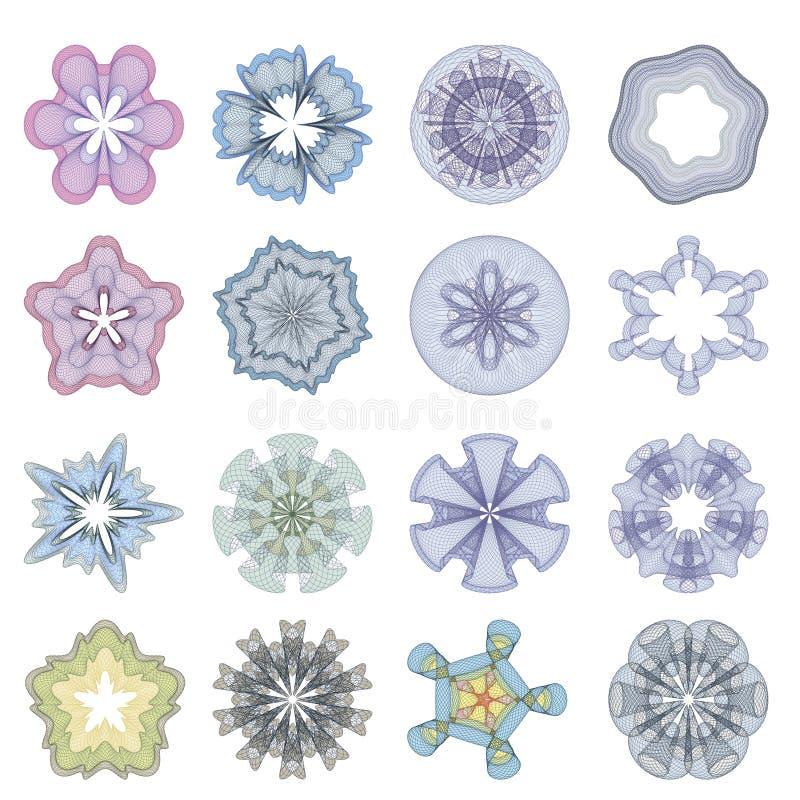 Vattenstämplar för diplom vektor illustrationer