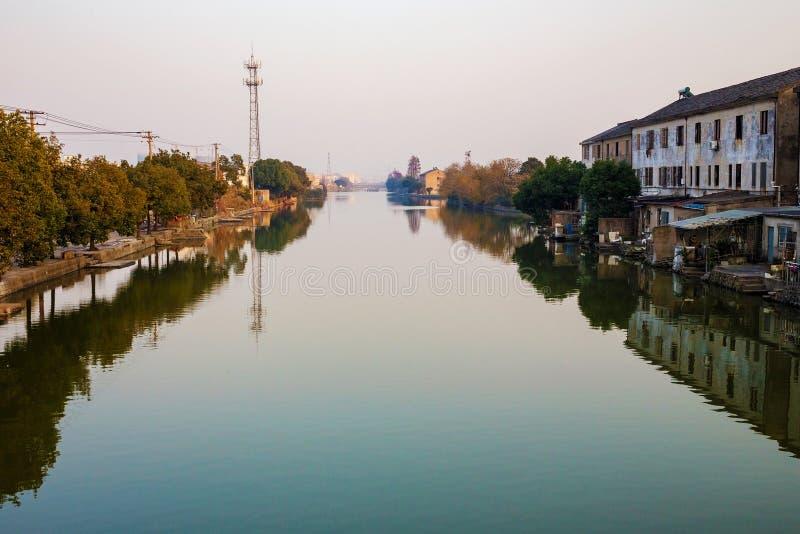 Vattenstad i Ningbo Kina royaltyfri fotografi