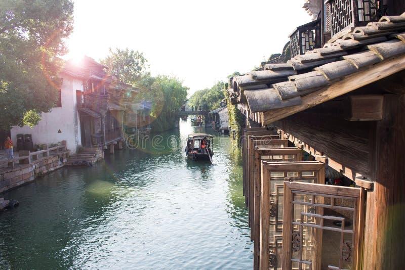 Vattenstad, Kina royaltyfria foton