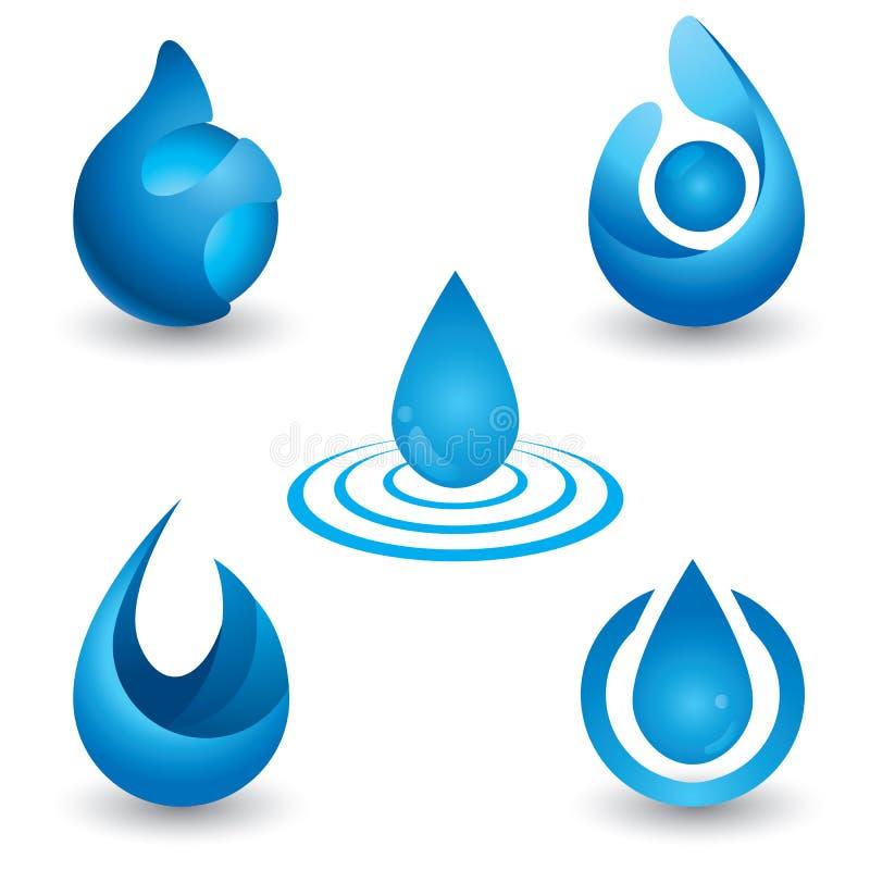 Vattensymbol stock illustrationer
