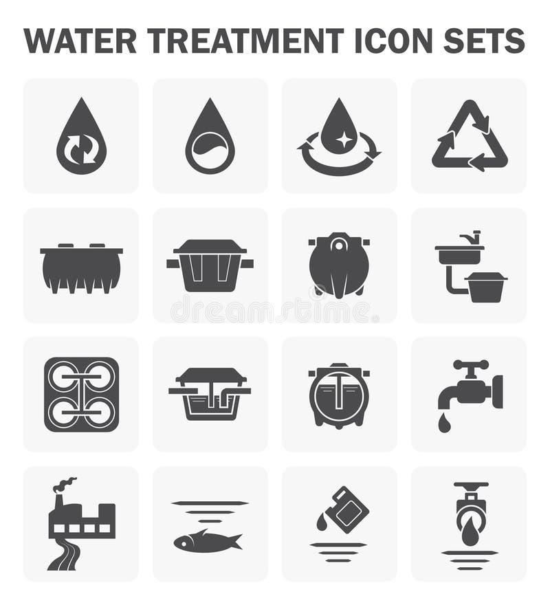 Vattensymbolsuppsättningar royaltyfria bilder