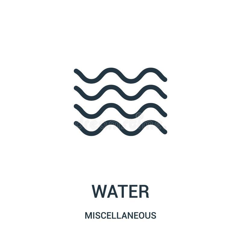vattensymbolsvektor från diverse samling Tunn linje illustration för vektor för vattenöversiktssymbol Linjärt symbol för bruk på  vektor illustrationer