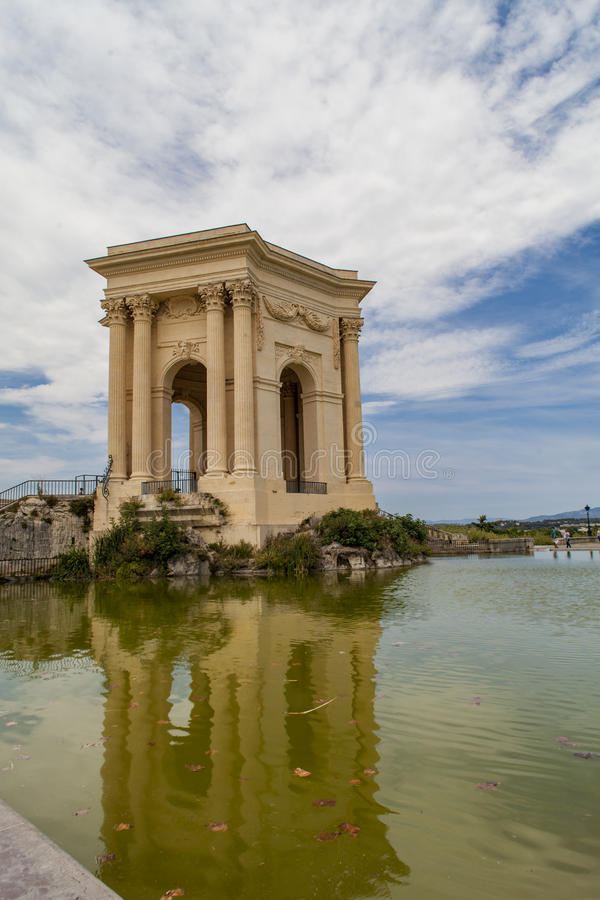 Vattentorn av Peyrou i Montpellier, Frankrike royaltyfri foto