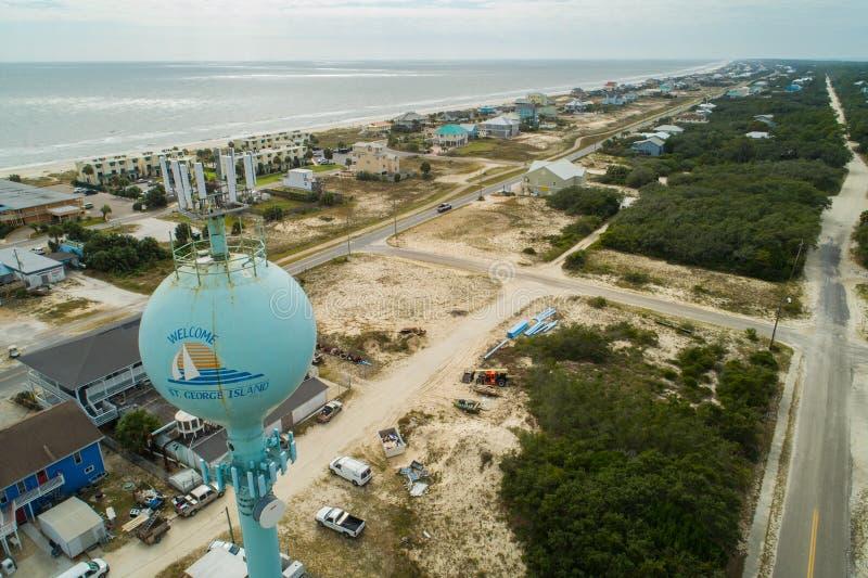 Vattentorn för St George Florida arkivfoton