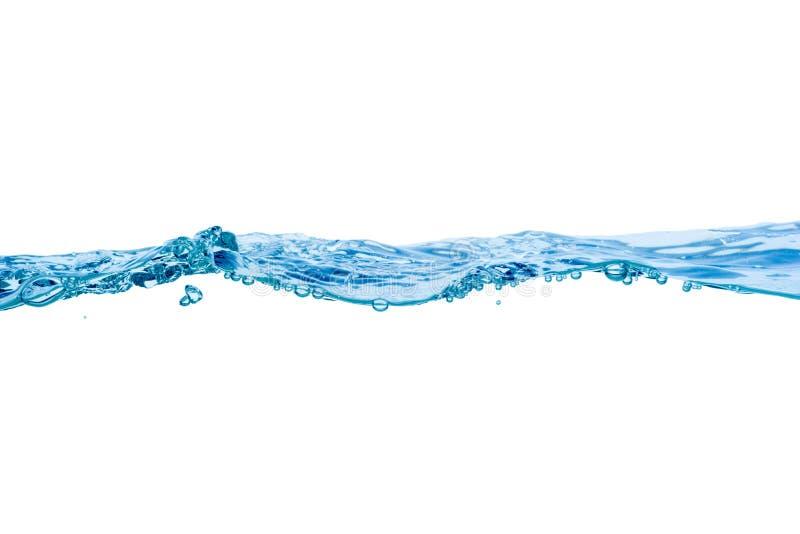 Vattenvåg som isoleras på vit bakgrund royaltyfria bilder