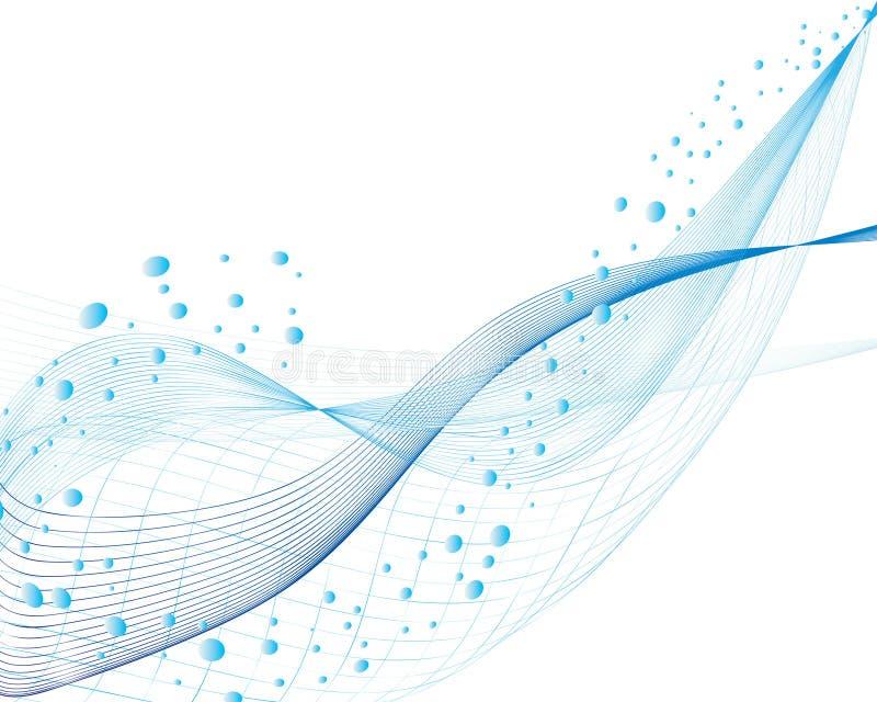 vattenwave vektor illustrationer