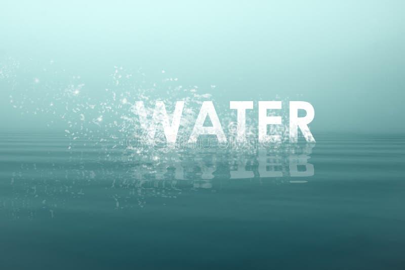 Vattnet för skriftligt ord arkivbild
