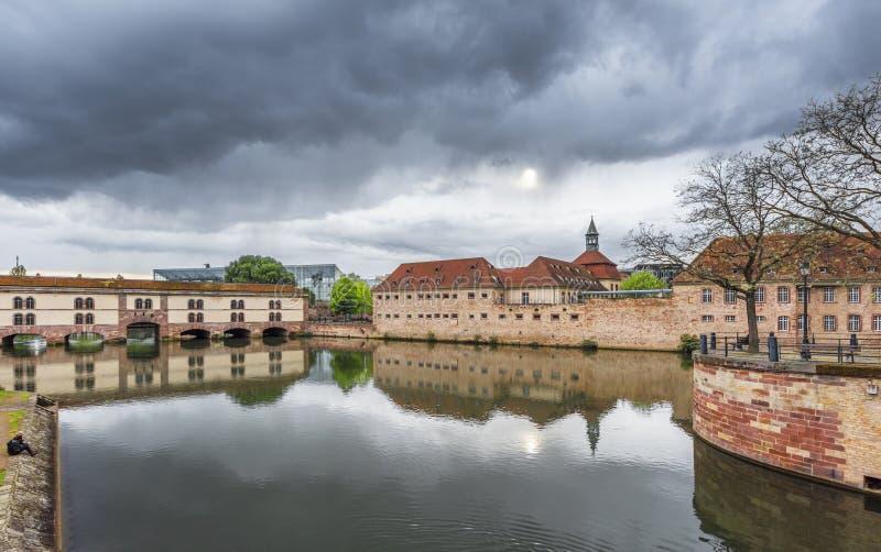 Vauban Barrage. View on Vauban Barrage. Strasbourg, France royalty free stock photography
