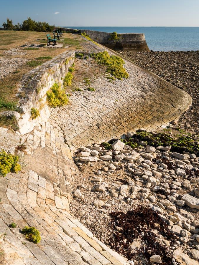 The vauban fortifications of Saint Martin de Re on a sunny day. The vauban fortifications of Saint Martin de Re France on a sunny day with a blue sky stock photo