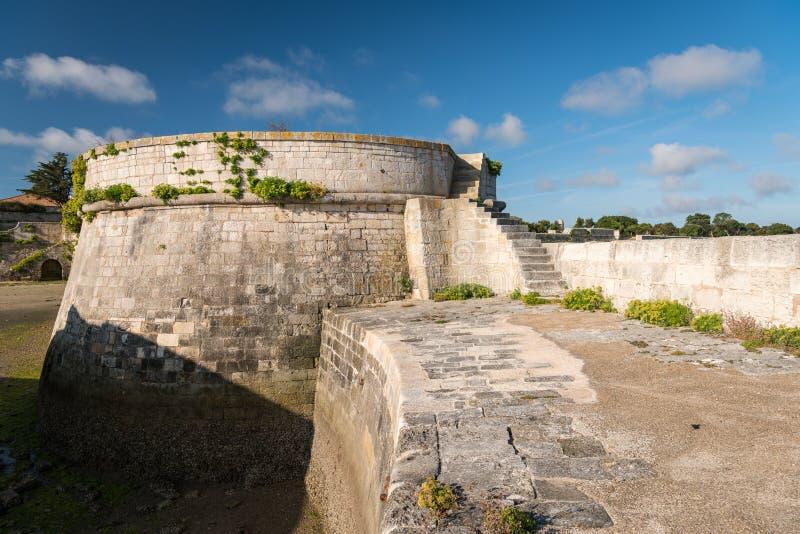 The vauban fortifications of Saint Martin de Re on a sunny day. The vauban fortifications of Saint Martin de Re France on a sunny day with a blue sky royalty free stock image
