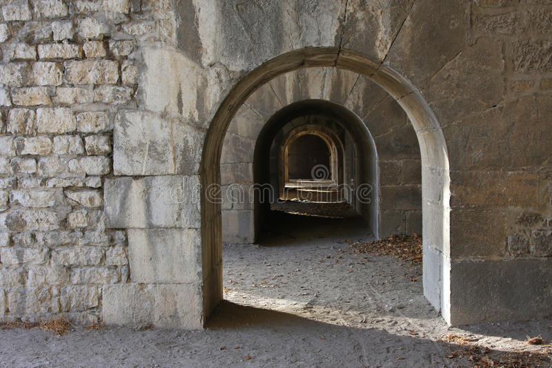 Vauban fortress. In La Bastille over the city of Grenoble stock photography