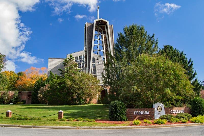 Vaughn Chapel Ferrum högskola arkivbilder