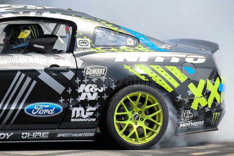 Vaughn Gittin Jr Drifting at Monster Energy Supercross stock images