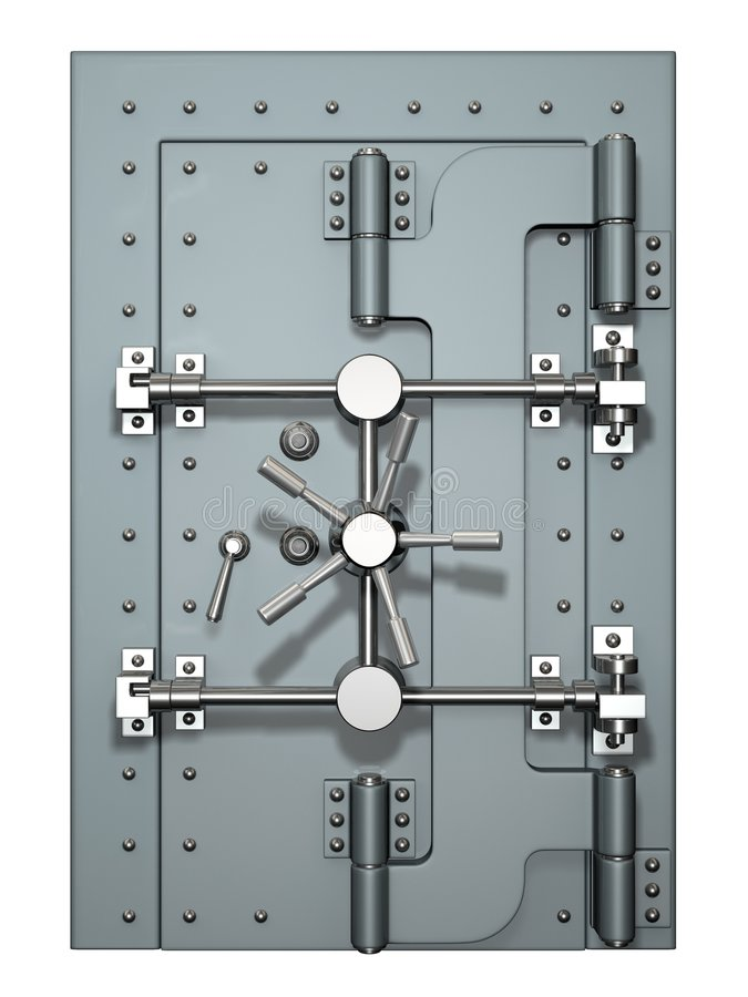 Vault door royalty free illustration
