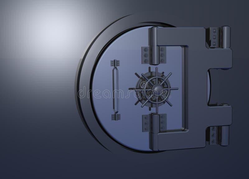 Vault_door_closed ilustração stock
