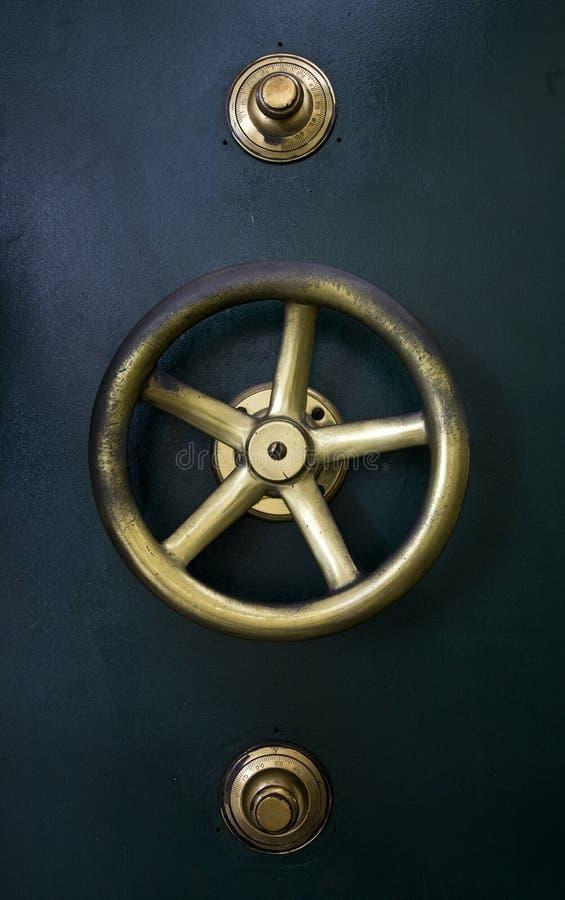 Vault door detail. Detail of antique vault door of bank Mandiri in Jakarta, Indonesia royalty free stock photography