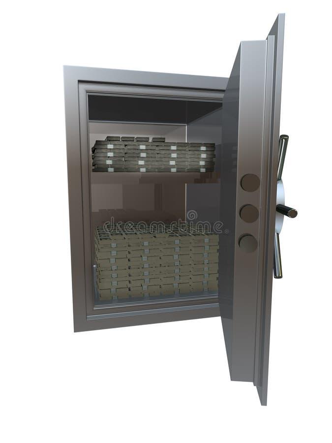 Vault with money stock illustration