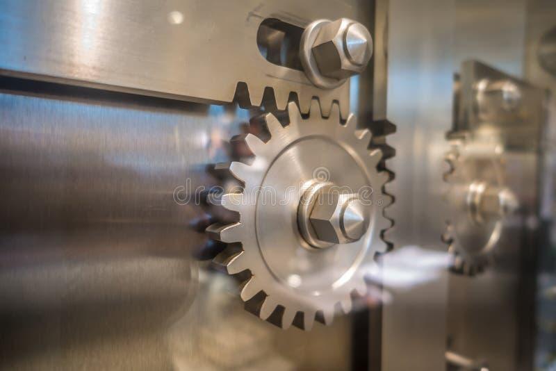 Vault safe door gears at museum. Vault safe door gears at  museum stock images