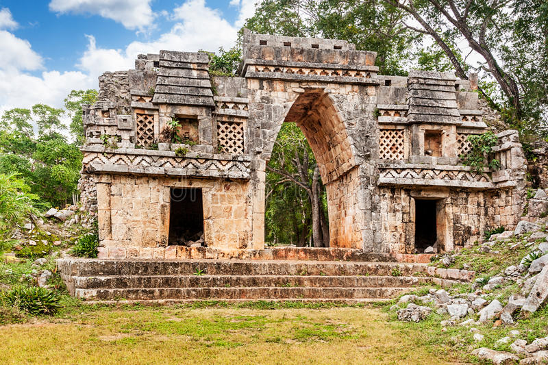 Vaulted arch Labna. Inner face of the Mayan vaulted arch, Labna, Mexico royalty free stock image