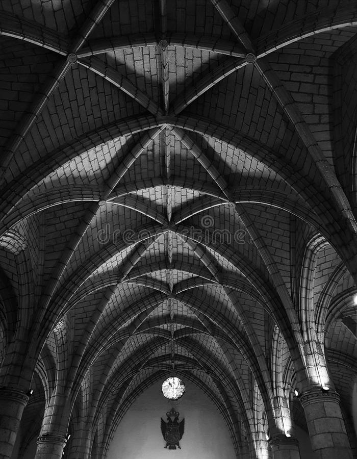 Vaulted ceiling stock photos
