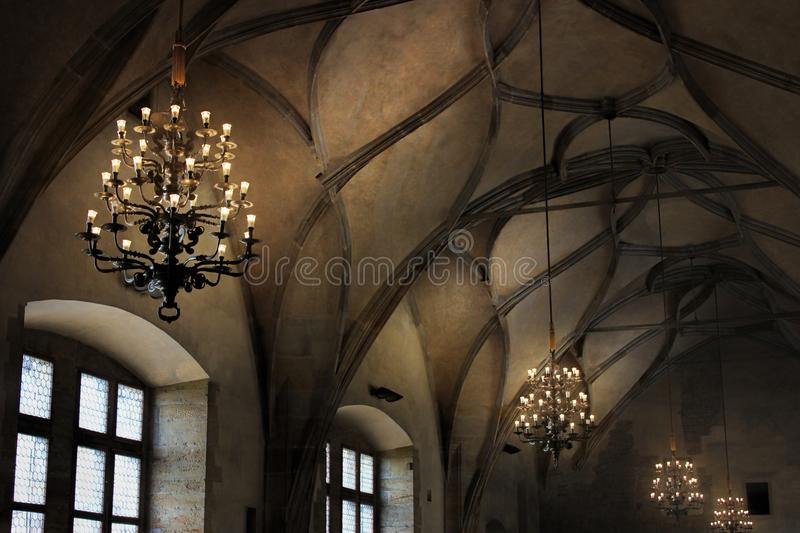 Download Vaulted Ceiling In The Gothic Cathedral And Ancient Elements Of Decor
