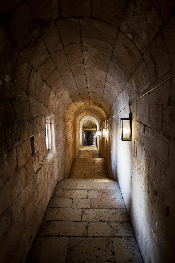 Vaulted passage royalty free stock photos
