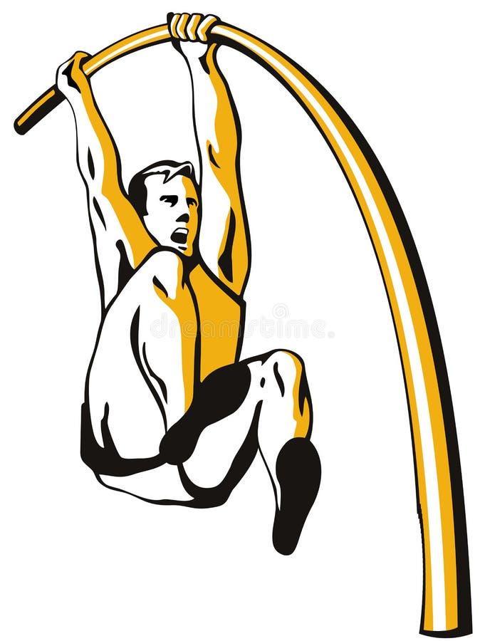 Vaulting di palo dell'atleta royalty illustrazione gratis