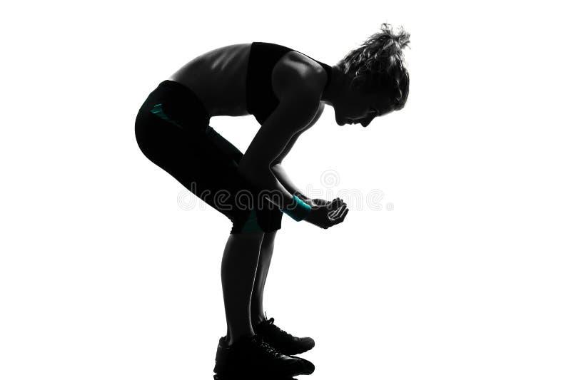 Vaulting di piegamento di posizione di forma fisica di allenamento della donna fotografie stock libere da diritti