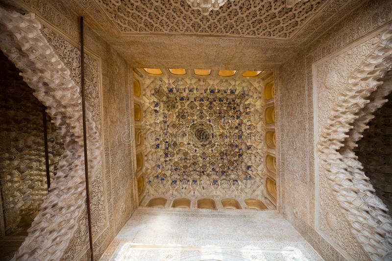 Vaulting in Hall of Kings at Alhambra royalty free stock photos