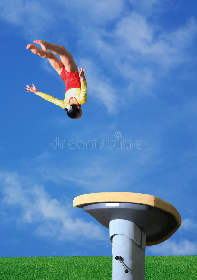 Vaulting horse stock image