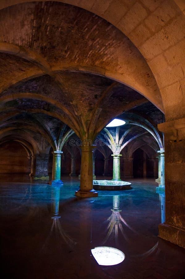 Vaulting. Wonderful subterranean reservoir water flooding stock photos