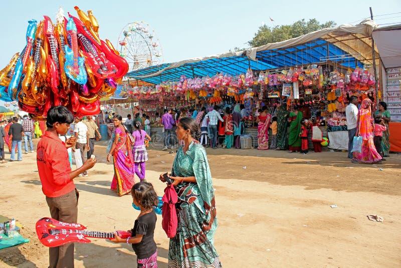 Vautha справедливое, Гуджарат стоковые изображения rf
