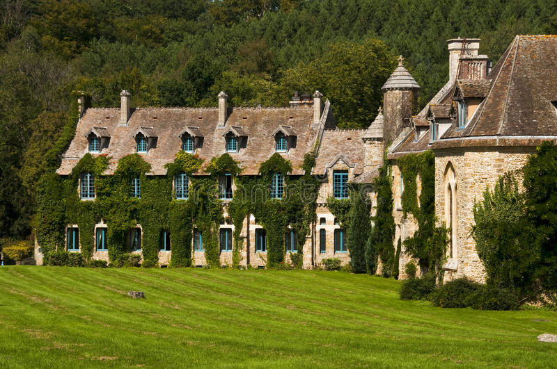 Vaux de Cernay abbey. In Chevreuse Valley, France stock photo