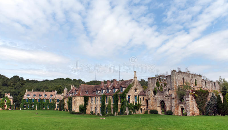 Vaux de Cernay abbey. In the chevreuse valley stock photography