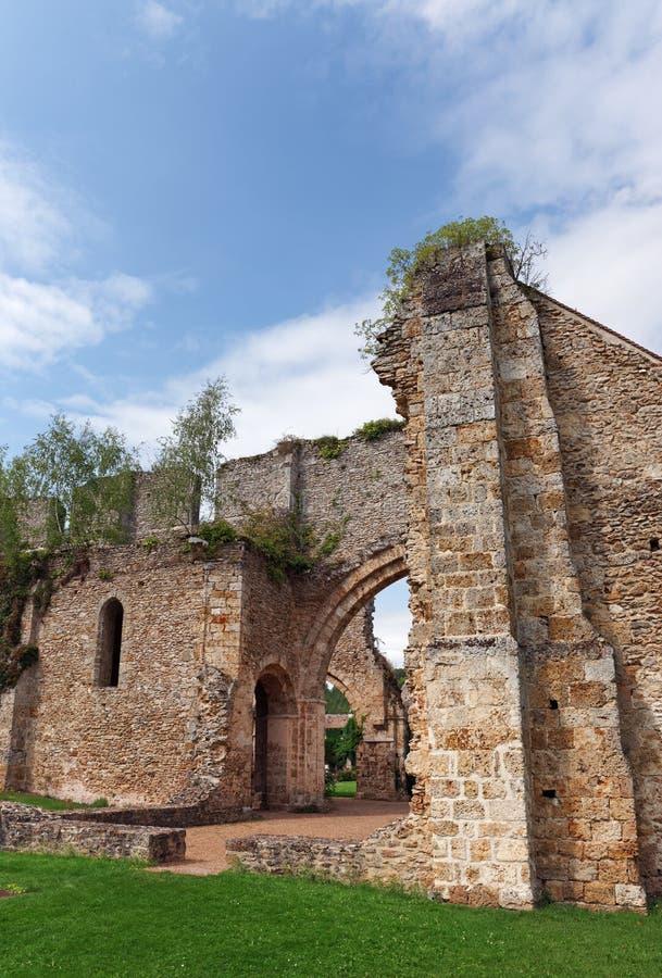 Vaux de Cernay abbey. In the chevreuse valley stock image