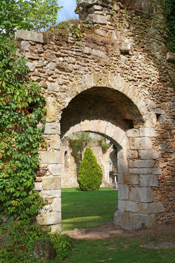 Vaux de Cernay abbey stock photo