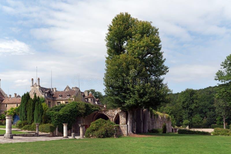 Vaux de Cernay abbey stock photography